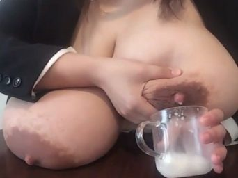Japanese Melons Overfilled Milk